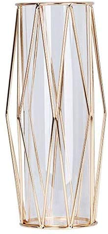 Creative Deco vaas glazen vazen metalen voorwerp voor kantoor aan huis bruiloft goud glazen vazen Glasheldere terrariums