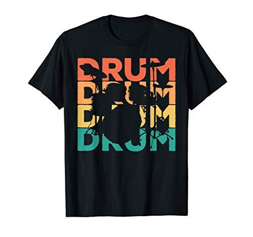 Retro Vintage Drums Geschenk für Drummer & Schlagzeuger T-Shirt