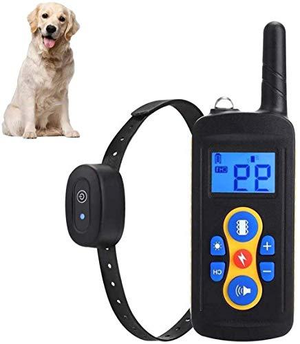 BYBYC Hundeschockhalsband mit Fernbedienung, 600 Meter Reichweite, wasserdichtes wiederaufladbares Hundetraininghalsband, 0~99 Schockstufen Hundetraining-Set