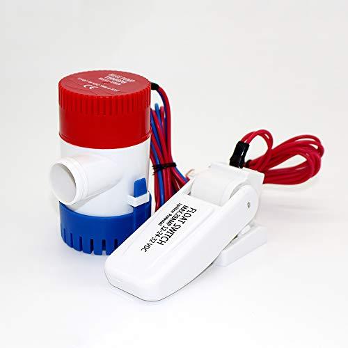 HCHL 800/5000 翻译结果 Accesorios para Bombas DC 12V 110 0GPH Bomba de Agua de beina de Mini Barco eléctrica, con Interruptor de Flotador Regla de Kayak Portátil (Voltage : 24V 500GPH)