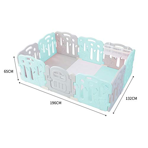 Fantastic Deal! X/L Baby Playpen, Foldable Child Safety Center with Safety Gate, Non-Slip Rubber Mat...