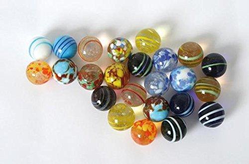 Glasmurmeln 20 mm (24 Stück im Netz)
