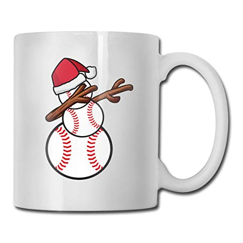 Taza de béisbol con diseño de muñeco de nieve, taza de café para bebidas calientes, taza de gres, taza de café de cerámica, taza de té de 11 oz, regalo divertido, taza de té y café