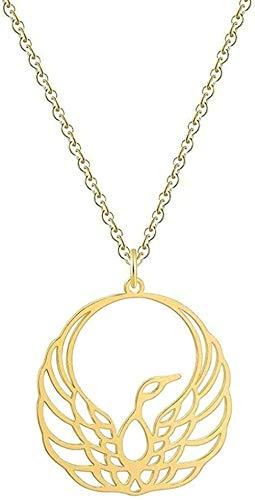 ZPPYMXGZ Co.,ltd Collar de Moda de Origami, Collar con Colgante de Fénix, Collar de decoración de Aves Wenmen, joyería Animal geométrica Masculina