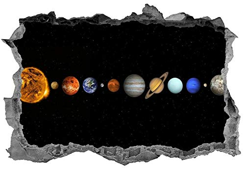 Wandtattoo'Solar System,Sticker,Wall Art,Space,3d,Bedroom,Planets,Decal,Mural'