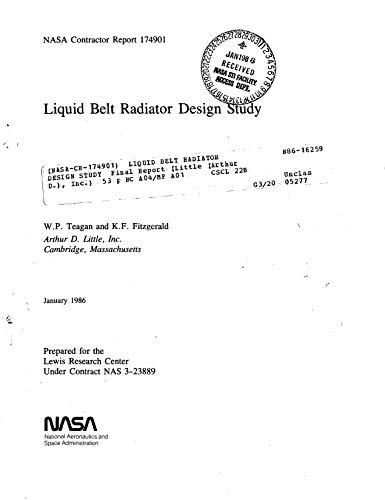 Liquid belt radiator design study (English Edition)