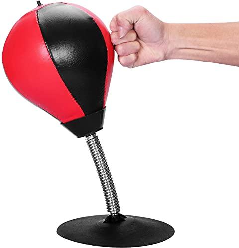 Lqdp Punching Ball Saco de Boxeo para niños, Bola de Velocidad con Forma de Pera de Escritorio, Boxeo, Entrenamiento físico, Mejora la Velocidad de reacción, Material de Cuero