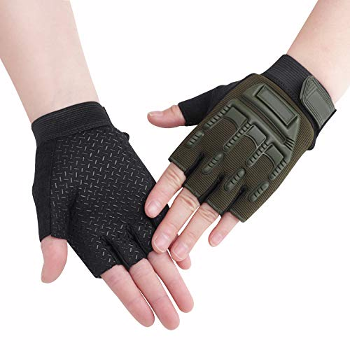 Girls Boys Half Finger Cycling Gloves Sport Gym Gloves Racing Mitts Non-Slip Gel Short Finger Breathable Summer Gloves Mountain Road Bike Riding Bicycle Running Climbing Gloves