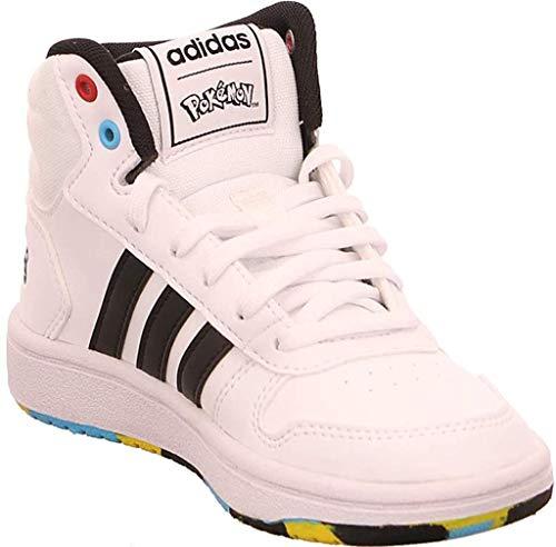 Adidas Hoops Mid 2.0 K, Zapatillas Deportivas Unisex niños, FTWR White/Core Black/Scarlet