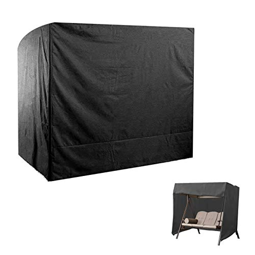 DTLEO Cubierta de Columpios de 3 plazas para Asiento de Tumbona de jardín Oxford 210D Antipolvo Anti-UV Impermeable Muebles Fundas Exteriore 160 * 120 * 170cm