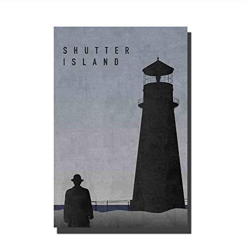 feitao Shutter Island Film Film Kunst Poster Home Wanddekoration Leinwand Wohnzimmer Dekoration Home Decor -20X28 Zoll Ohne Rahmen