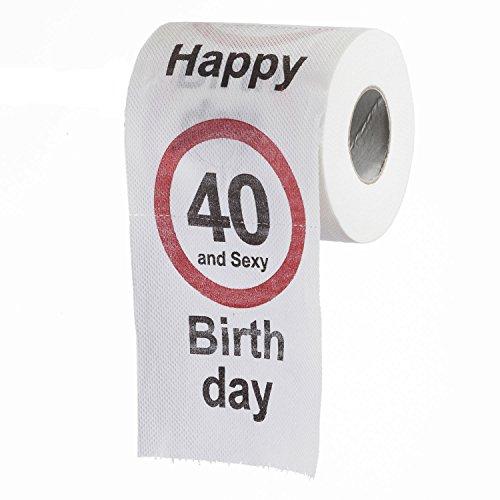 GOODS+GADGETS Lustiges Fun Klopapier zum 40. Geburtstag Toilettenpapier Geschenkartikel Geburtstags-Dekoration 40 und Sexy!