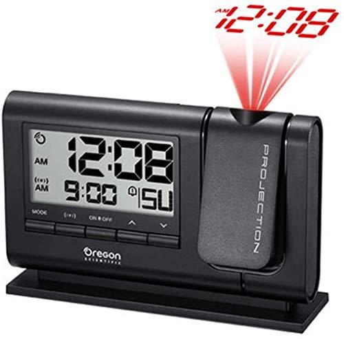 HAOHAO de Alarma Reloj de proyección del proyector del Techo Noche retroiluminación HD Dual de Alarma de, batería/Adaptador de Reloj de Mesa