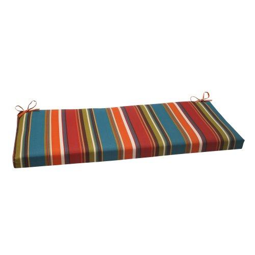"""Pillow Perfect Outdoor/Indoor Westport Teal Bench/Swing Cushion, 45"""" x 18"""""""