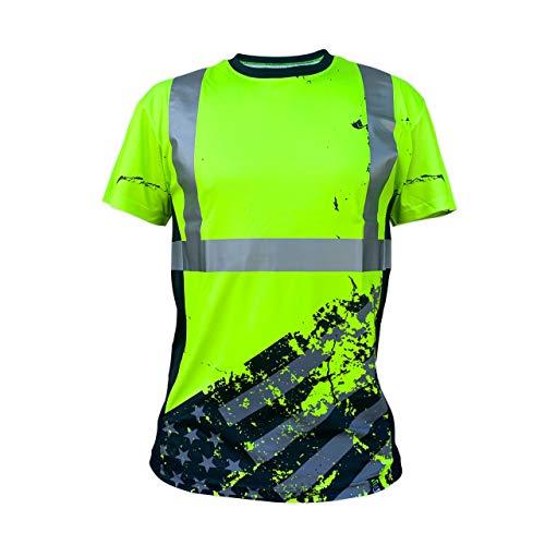 SafetyShirtz SS360 American Grit Tee ANSI Class 2 XL Yellow