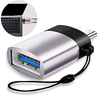 USB C to USB 3.0 OTG Adapter,Aluminum USB Type C Converter with Strip for MacBook Pro 2018/2017,MacBook Air 2018, Pixel 3, Dell XPS, and More Type-C Devices-Gray