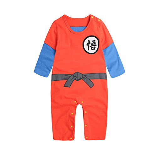 PAUBOLI Dragon Ball Z Onesie Baby Boy Cartoon Mono 100% Algodón