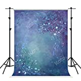 Kate 5×7ft Purple Blue Abstract Photography Backdrop Flowers Portrait Background Photo Studio Props for Photographers Video Fabric