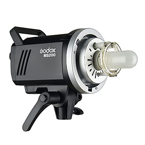 Sunbaca Godox MS200 Estúdio Strobe Light Monolight 200 Ws GN53 5600 K Built-in 2.4G Sistema Sem Fio X Anti-Preflash 0.1-1.8s Tempo de Reciclagem com 150 W Lâmpada de Modelagem Bowens