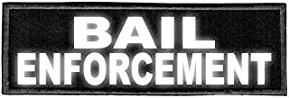 Bail Enforcement - 6x2 - Reflective Lettering - Black Twill Backing - Hook Panel