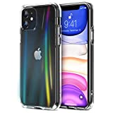 Apocase iPhone 11 Case, Crystal Clear Scratch-Resistant Soft TPU, Tempered Glass + Hard PC Dual Layer Back Cover, Compatible Apple Phone 11, 6.1 Inch