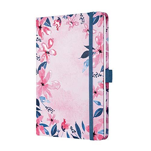 SIGEL JN337 Jolie libreta de notas - Loose Florals Pink - a líneas - 13,5 x 20,3 cm - hardcover - 174 páginas - pink