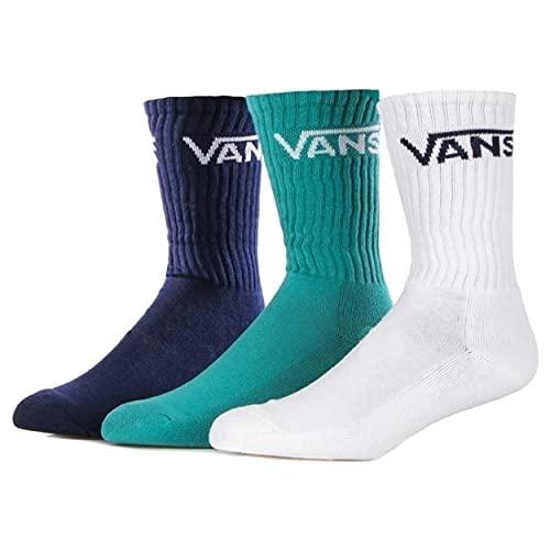 Vans Classic Crew (6.5-9, 3pk) Calcetines, Porcelana Verde, Taille Unique (Pack de 3) para Hombre