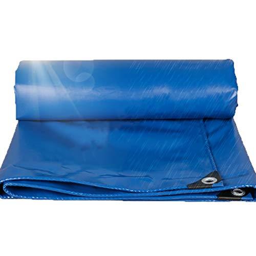 YXJBD Premium Gewebeplane Leichte PVC-Plane Regendicht Tragbarer Wasserdachabdeckung Sonnenschutz-Matte Campingplane (Color : Blue, Size : 33x49.5ft/10x15m)