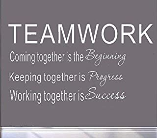 MAFENT Teamwork Definition Wall Decals Quotes Vinly Sayings Wall Art Decor Lettering Vinyl Office Wall Decoration Multi