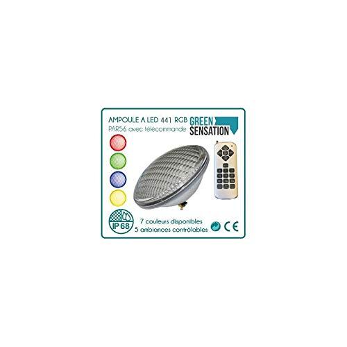 Ampoule de piscine RGB LED 8 W 800 lm Projecteur de PAR56 TELECOMMANDE EEK A +