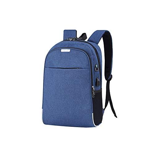 Lpiotyudnb Mochila Mochila portátil USB Que Carga 15.6 Pulgadas Anti Robo Mujeres Hombres Escolares Bolsas para el Estudiante Bolsa de Hombres (Color : Blue, Size : 30x13x46cm)