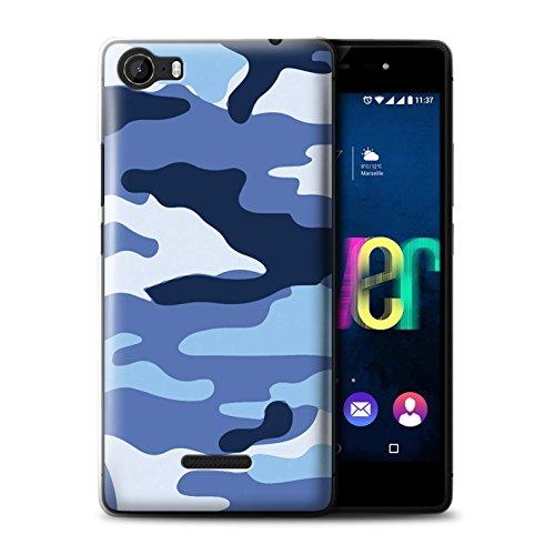 Hülle Für Wiko Fever 4G Armee/Tarnung Blau 2 Design Transparent Ultra Dünn Klar Hart Schutz Handyhülle Hülle