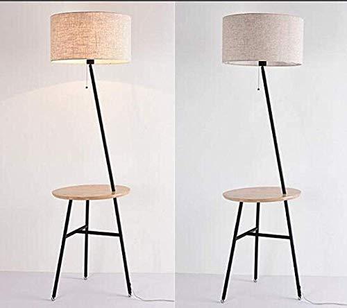 Staande lampen, woonkamer-vloerlampen van massief houtweefsel, verticale tafellamp voor werkkamer, lamp met trekkoord voor slaapkamer, leeslamp voor werkkamer, B, 3W, B-D 3W B