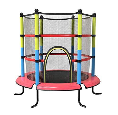 DX Indoor Kids Fitness Trampoline, met Behuizing Net Veiligheid Mini Trampoline Oefening Trampoline Jump Mat Rebounder Help Kinderen Groeien en spelen