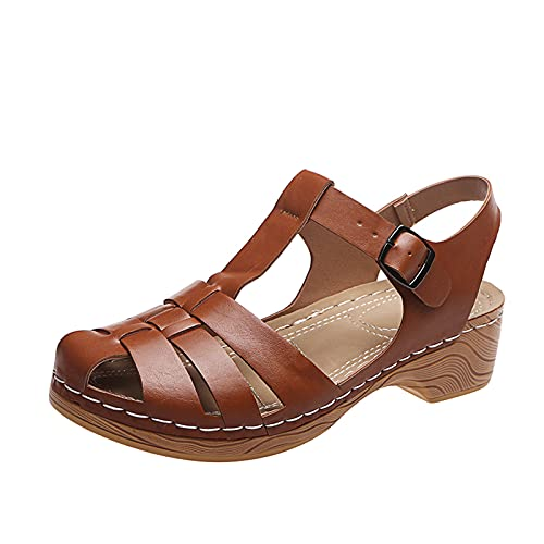 Sandalias Mujer Verano 2021 Sandalias para Mujer de Malla Velcro Deportivo de Calzado Casual Ligero Respirado Ligero Running Zapatillas Sacudir Zapatos de Mocasines Verano