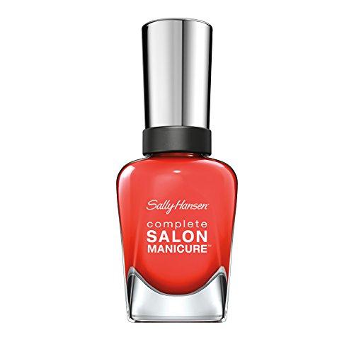 Sally Hansen Complete Salon Manicure Nagellack, Farbe 560, Kook A Mango, leuchtendes rot, 1er Pack (1 x 15 ml)