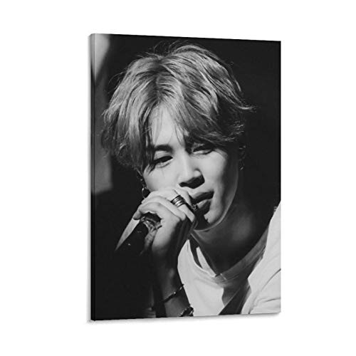 K-POP BTS JIMIN Nam-joon Kim Seok Jin Min Yoon Gi Jeon Jung Kook J-Hope Kim Tae Hyung 17 poster su tela e stampa artistica da parete, 50 x 75 cm