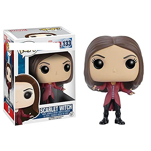 SDFM Pop Figures Civil War #133 Scarlet Witch Collection Action Figure Model Decoration Doll Toy Gifts For Kids with Box 10Cm