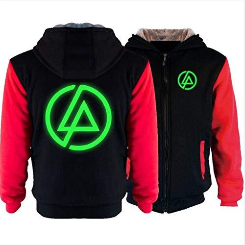 Camisa de entrenamiento Unisex Chaqueta suéter - Linkin Park Rock Band brilla Imprimir Nueva Cálido Casual Postal Pullover Escudo sudadera jersey de béisbol de manga larga -Teens regalo A (Color: H, T