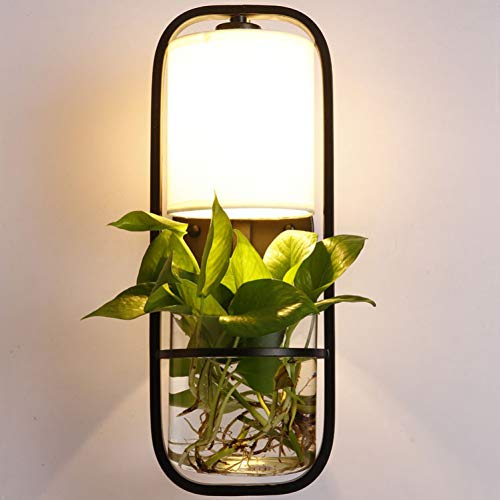 Moderne led-wandlamp, moderne bloempot, decoratieve wandlampenkap, moderne eettafel, hanglamp, verlichting voor kantoor