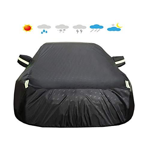 HEQCG Kompatibel mit Auto-Abdeckungen Hyundai Grandeur, PU wasserdicht Sonnenschutz Staubdichtes Oxford Cloth Auto-Abdeckungen, Leicht-Art (Color : Black)