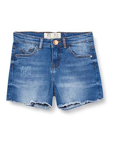 ZIPPY Short Vaquera para niña SS20 Pantalones Cortos de Jean, Medium Blue Denim, 7/8 para Niñas