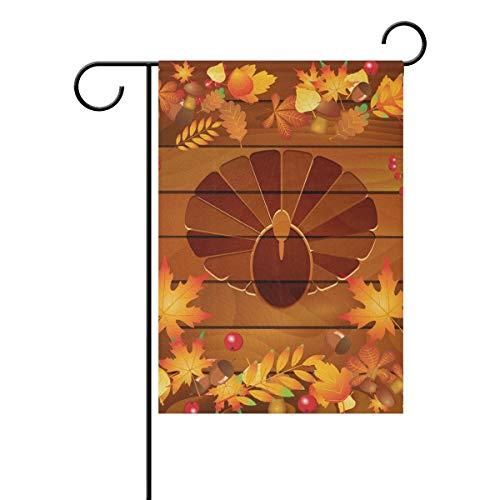 Jessgirl Kleine Garten Thanksgiving Blätter Eicheln 28x40 Zoll Flagge vertikale doppelseitige Bauernhaus Summer Yard Outdoor-Dekor