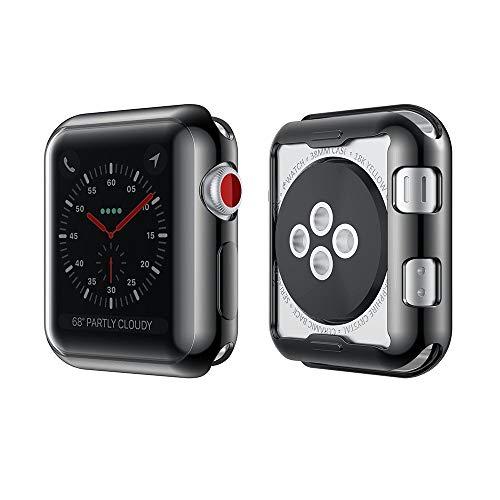 NotoCity Apple Watch 42 mm Cover Resistente Custodia AntiGraffio Proteggi Schermo TPU Durevole Pellicola Protettiva Protezione Completa Ultra Morbido per iWatch Case per Apple Watch Series 2 Series 3