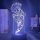 Anime Dragon Ball LED decoración de dormitorio Dragon Ball Z acrílico lámpara de mesa lámpara de regalo