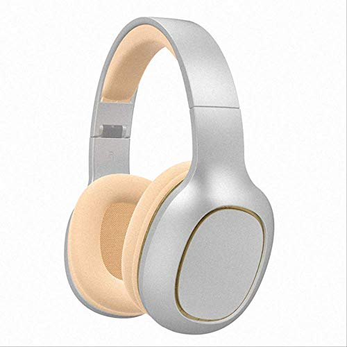 Bluetooth Headset, Wireless Headset Foldable Bluetooth 5.0 Stereo Headset And Microphone Support Tf Card Iphone, Android, Computer, Tv, Laptop New Silver