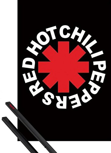 1art1 Red Hot Chili Peppers Póster (91x61 cm) Logo Y 1 Lote De 2 Varillas Negras