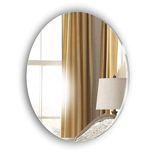 WMDHH Miroir Ovale Mural Miroir sans Cadre, Miroir de Salle de Bain/Chambre/Salon Moderne, Miroir de courtoisie, Miroir de Rasage - avec Fixations murales
