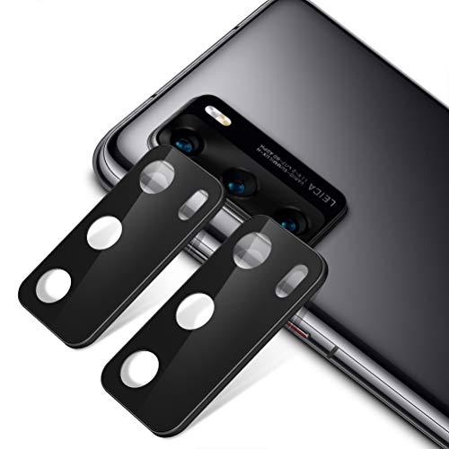 """Yoedge [2 Pack] Protector de Lente de cámara para Huawei P40 Pro Plus 5G,9H Anti-explosión Anti-rasguños Película Protectora de Lente de la Cámara de Vidrio Templado para Huawei P40 Pro+ 6,58"""", Negro"""