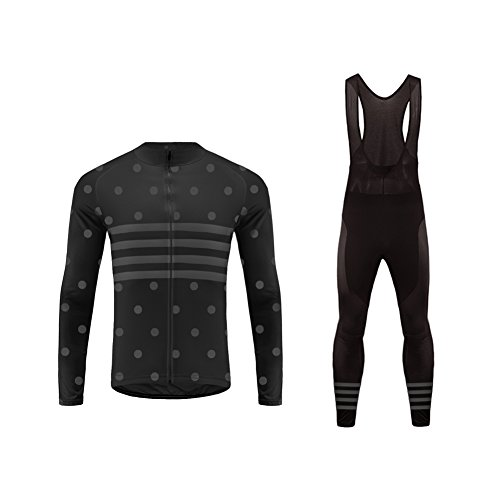 Uglyfrog 2018 Nuevo De Inviern thermalo Mantener Caliente Manga Larga Maillot Ciclismo Hombre Bodies +Long Bib Pant with Gel Pad Winter Style
